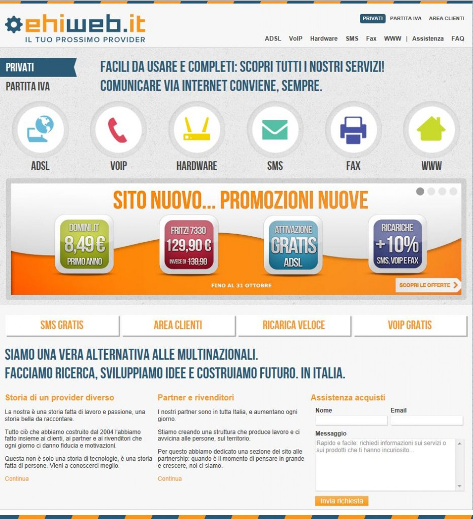 Home page di Ehiweb